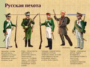 Русская пехота Мушкетер – основа русской пехоты. Сражались плотным линейным с