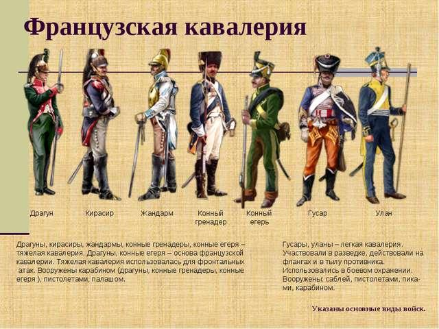 Французская кавалерия Драгуны, кирасиры, жандармы, конные гренадеры, конные е...