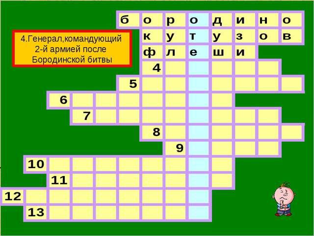 4.Генерал,командующий 2-й армией после Бородинской битвы