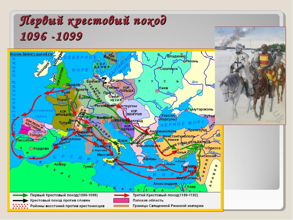 Первый крестовый поход 1096 -1099