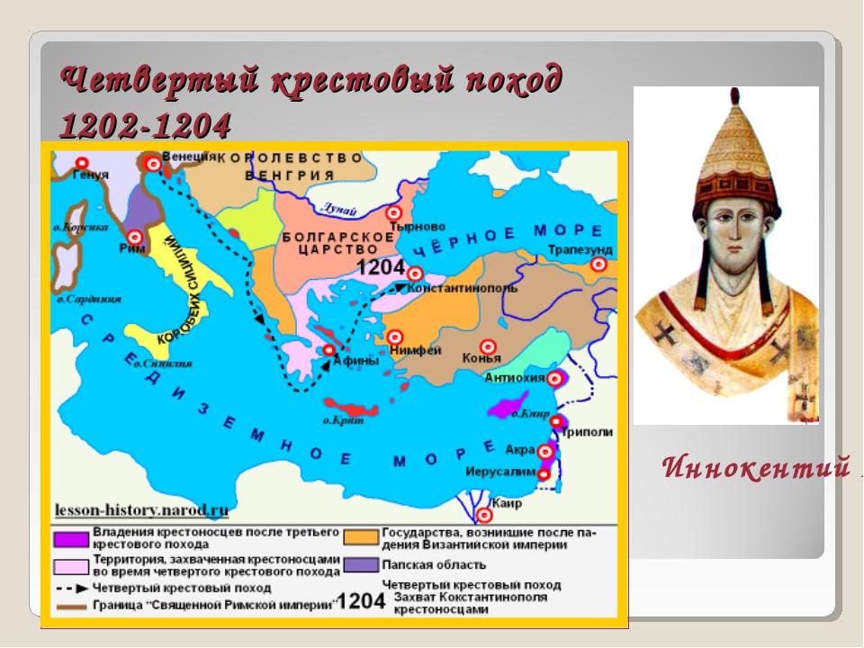 Четвертый крестовый поход 1202-1204 Иннокентий III