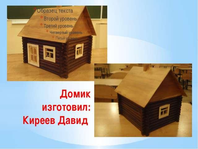 Домик изготовил: Киреев Давид