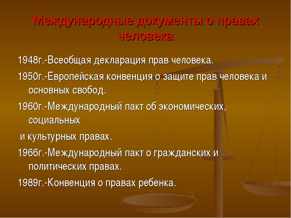 Международные документы о правах человека 1948г.-Всеобщая декларация прав чел...