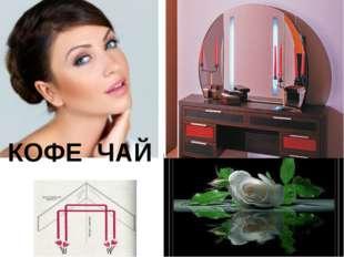 КОФЕ ЧАЙ Зеркальная симметрия меняет расположение: зеркало напротив - меняет