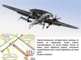 Самолет-разведчик, летящий вдоль границы, не залетая на территорию чужой стра