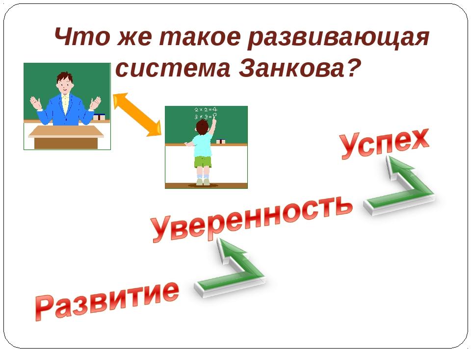 Что же такое развивающая система Занкова?