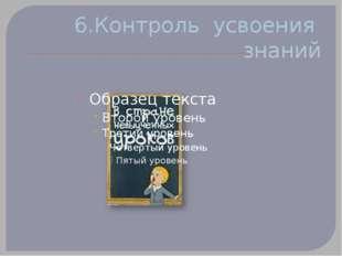 6.Контроль усвоения знаний