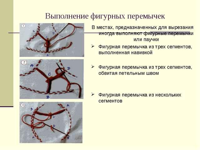 Выполнение фигурных перемычек В местах, предназначенных для вырезания иногда...