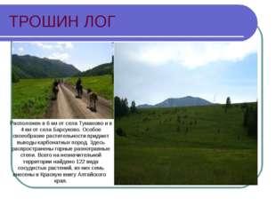 ТРОШИН ЛОГ Расположен в 6 км от села Туманово и в 4 км от села Барсуково. Осо