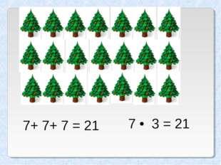 7+ 7+ 7 = 21 7 • 3 = 21 Татьяна - null