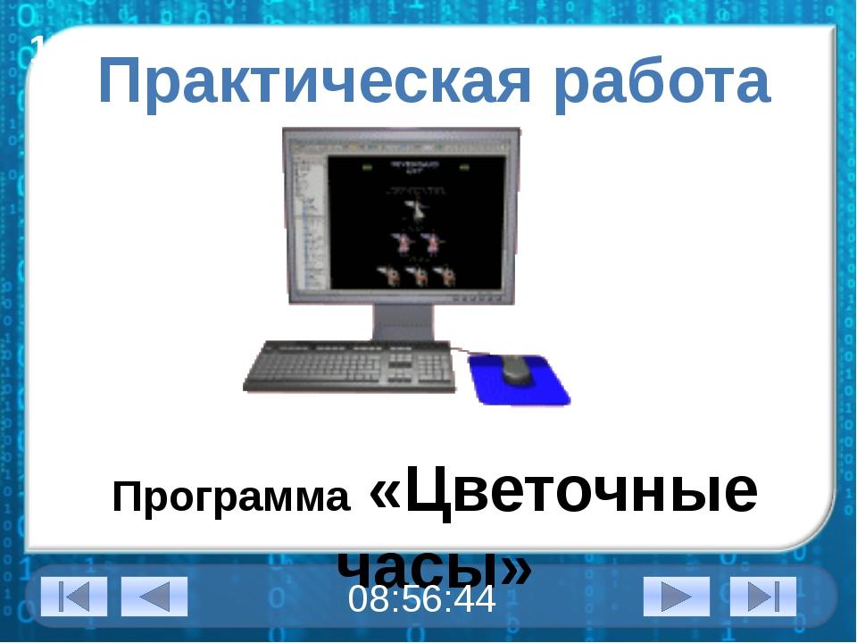 17 октября 2014 г. Практическая работа Программа «Цветочные часы»
