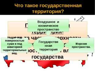 Что такое государственная территория? Государственная территория- это та част