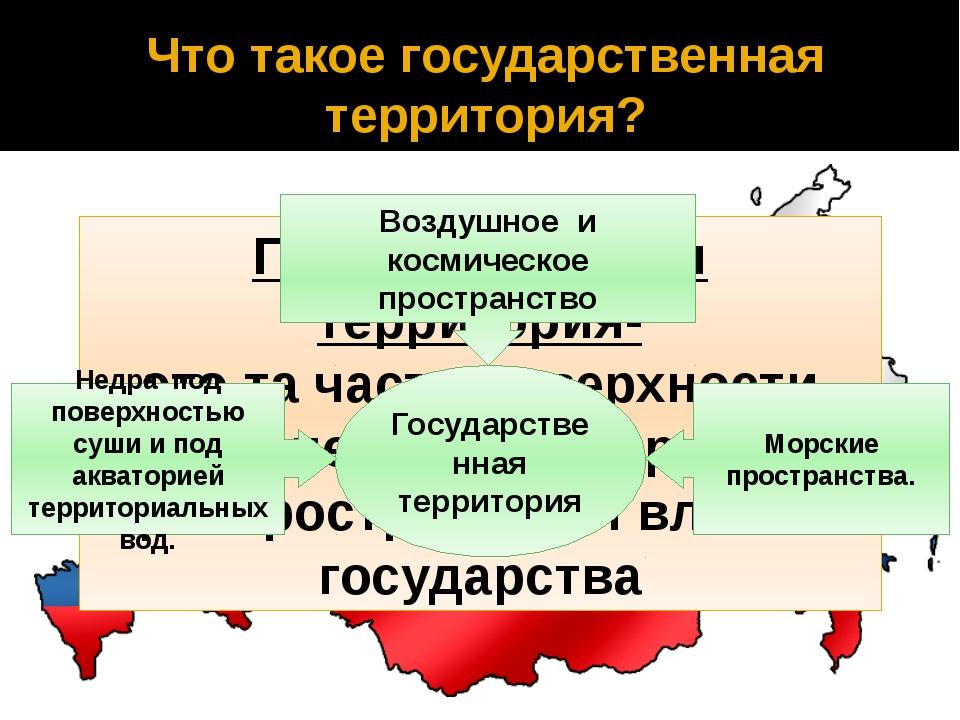 Что такое государственная территория? Государственная территория- это та част...