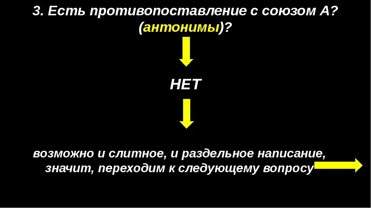 5. Можно подобрать синоним? ДА значит, пишем СЛИТНО: НЕдруг = враг; НЕсильный...