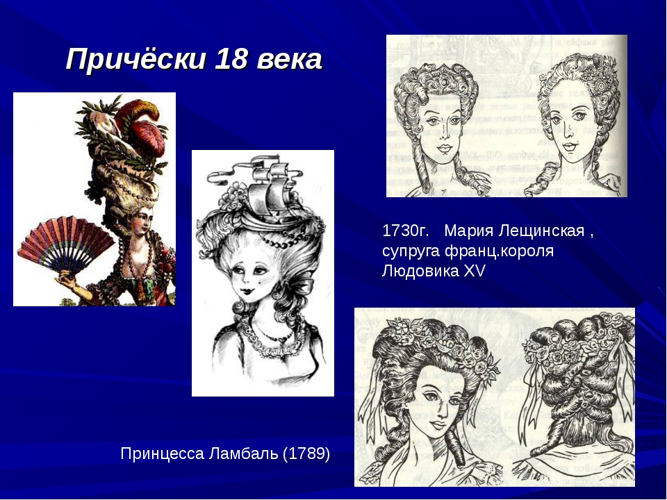 Причёски 18 века 1730г. Мария Лещинская , супруга франц.короля Людовика XV Пр...