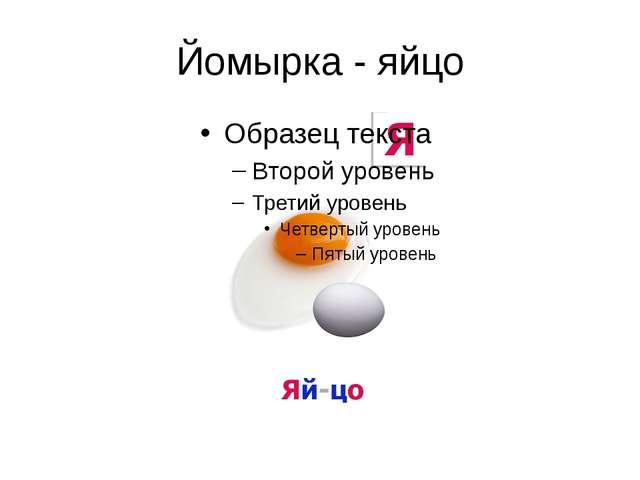 Йомырка - яйцо
