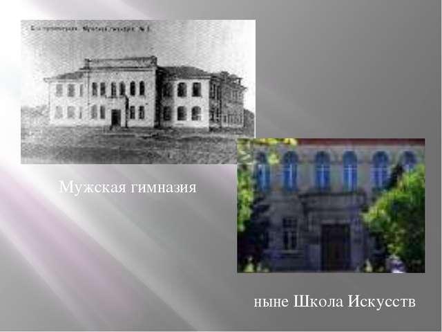Мужская гимназия ныне Школа Искусств