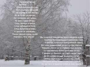 Когда зима пришла в лесок, Заскрипел везде снежок. Стало холодно кругом, В