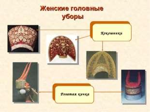 Женские головные уборы Кокошники Рогатая кичка