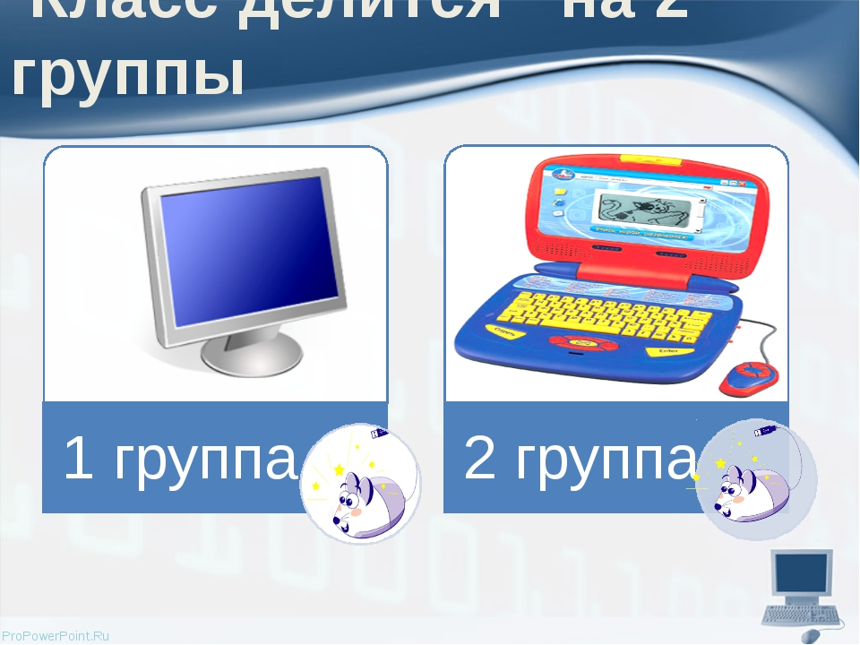 Класс делится на 2 группы ProPowerPoint.Ru