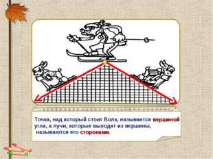 NNNN Точка, над который стоит Волк, называется вершиной угла, а лучи, которые