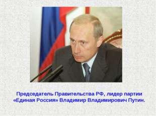 Председатель Правительства РФ, лидер партии «Единая Россия» Владимир Владимир