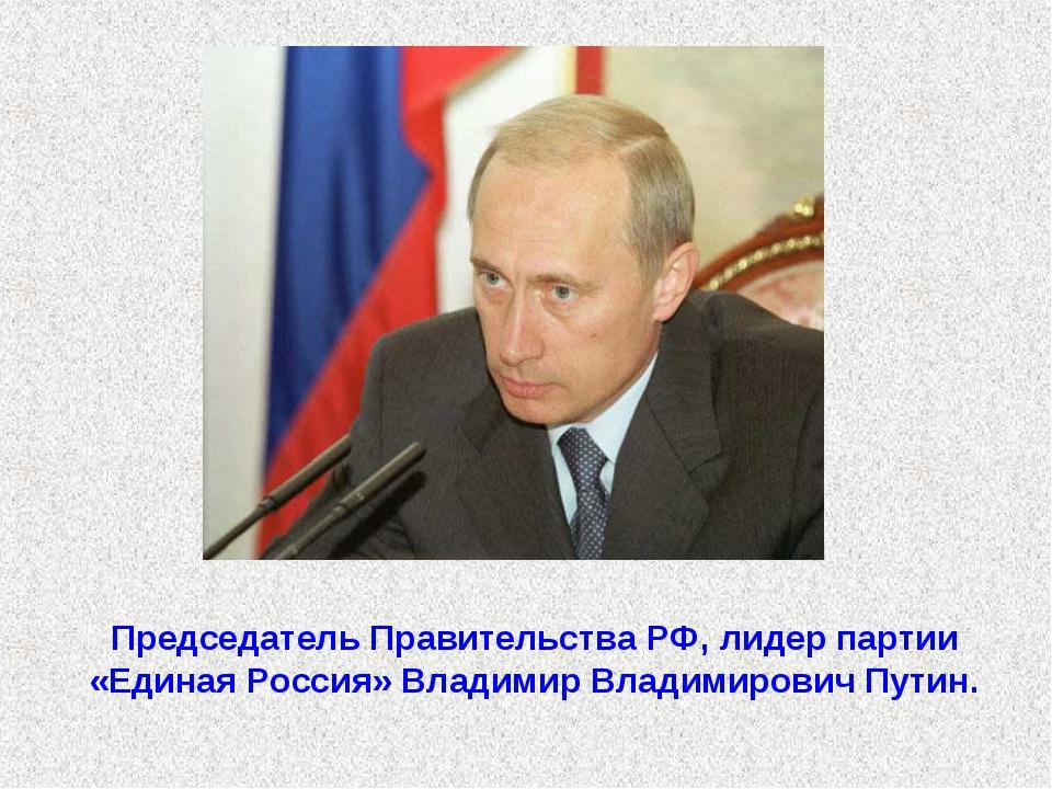 Председатель Правительства РФ, лидер партии «Единая Россия» Владимир Владимир...