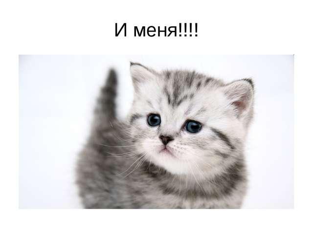 И меня!!!!