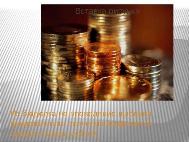 Из бюджета на проведение выборов федерального значения выделяется свыше 6 млр...