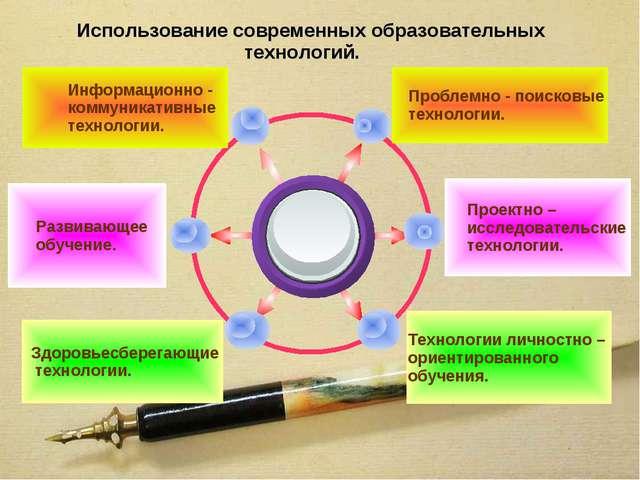 Использование современных образовательных технологий. Проблемно - поисковые...