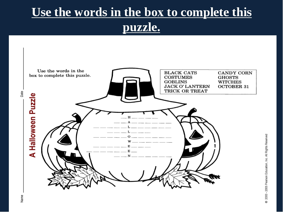 Use the words in the box to complete this puzzle.