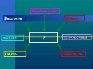 ? Биология Химия Физика Электроника Связь Навигация Морское дело