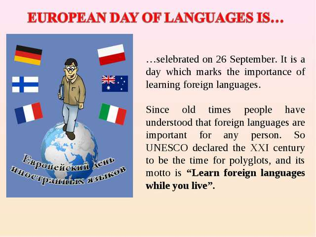 …selebrated on 26 September. It is a day which marks the importance of learni...