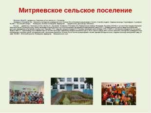 Митряевское сельское поселение  Митряево (Метрәй) - деревня на р. Казанч