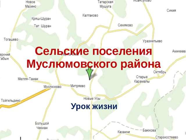 Сельские поселения Муслюмовского района Урок жизни