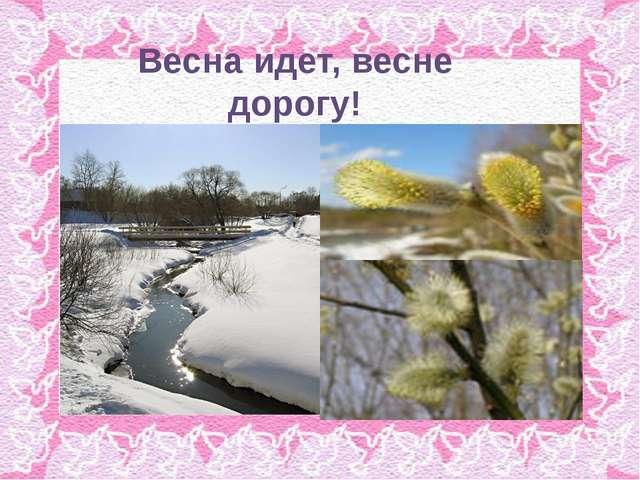 Весна идет, весне дорогу!