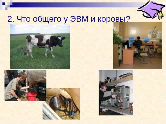 2. Что общего у ЭВМ и коровы?