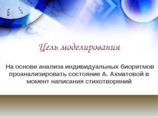 На основе анализа индивидуальных биоритмов проанализировать состояние А. Ахма