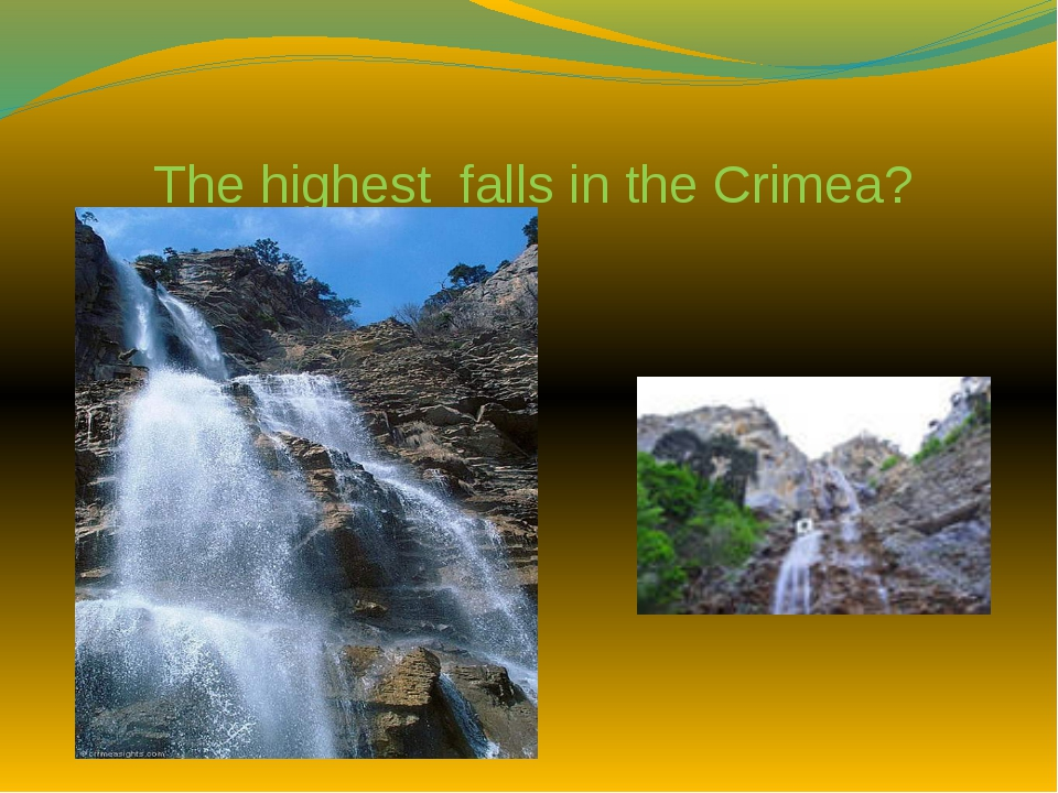 The highest falls in the Crimea?