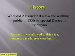 What did Alexander II allow the walking public in 1856 by special Decree in T