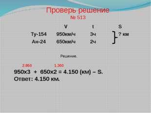 Решение. 950х3 + 650х2 = 4.150 (км) – S. Ответ: 4.150 км. 2.850 1.300 Провер