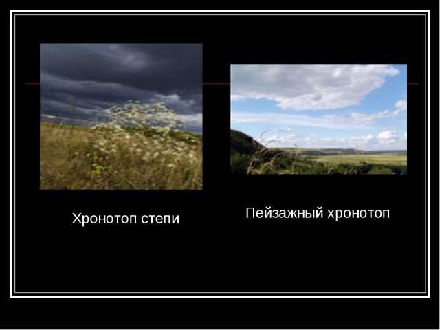 Хронотоп степи Пейзажный хронотоп