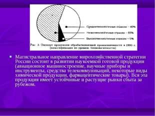 Магистральное направление мирохозяйственной стратегии России состоит в развит