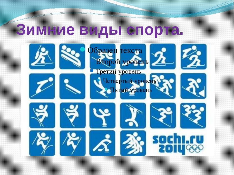 Зимние виды спорта.