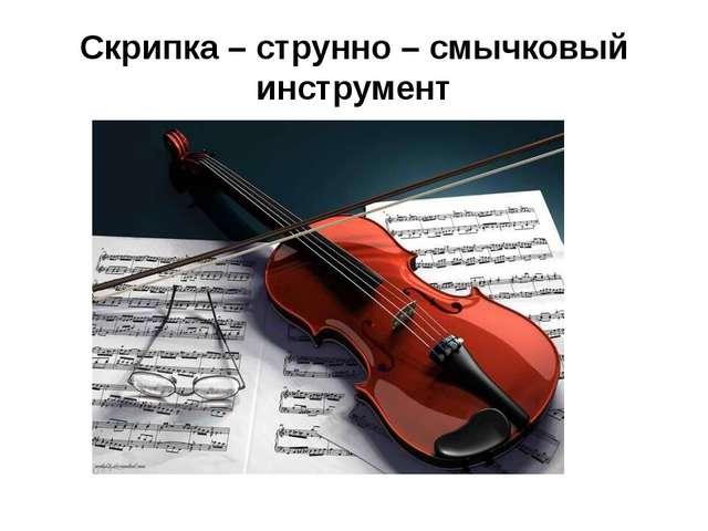 Скрипка – струнно – смычковый инструмент