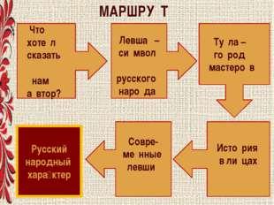 Что хоте́л сказать нам а́втор? Левша́ – си́мвол русского наро́да Ту́ла – го́