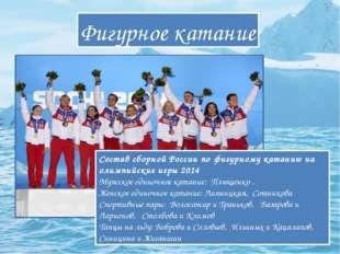 Фигурное катание Состав сборной России по фигурному катанию на олимпийские иг