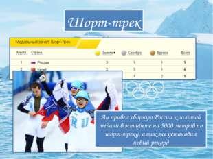Шорт-трек Ан привел сборную России к золотой медали в эстафете на 5000 метров