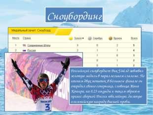 Сноубординг Российский сноубордист Вик Уайлд завоевал золотую медаль в паралл