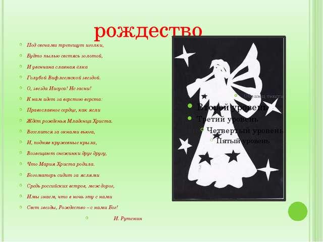 рождество Под свечами трепещут иголки, Будто пылью светясь золотой, И увенчан...